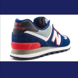 New Balance Shoes - NEW BALANCE 574 – PAISLEY / BLUE / RED ML574CPM